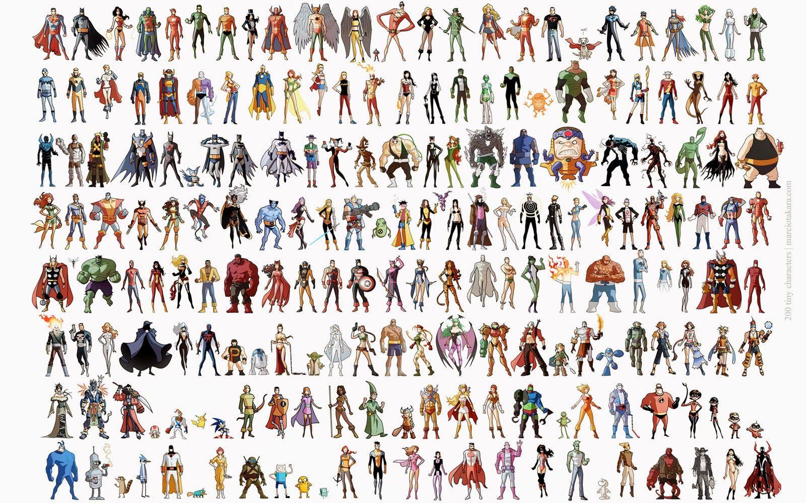 Супергерои список с картинками именами