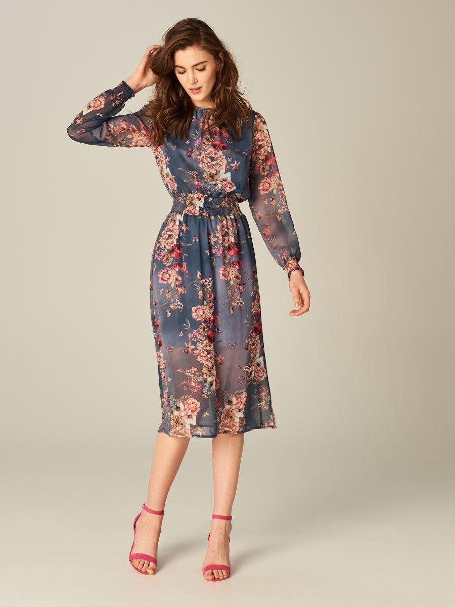 67f1c4e29c Lekka sukienka w kwiaty