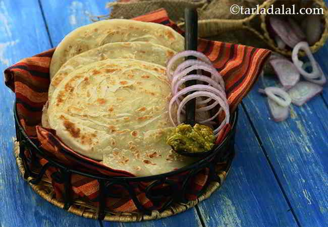 lachha paratha punjabi soft flaky lachha paratha recipe with images paratha paratha on hebbar s kitchen recipes laccha paratha id=58894
