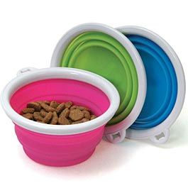 Bamboo Collapsible Travel Bowl Products I Love Dog Food