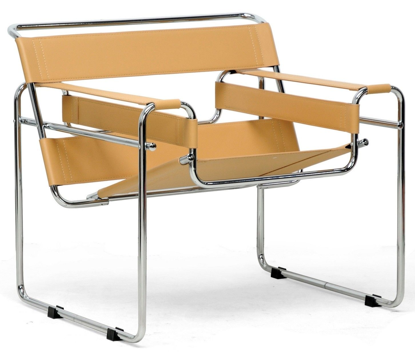 Highshine steel tubing paired with bonded leather gives