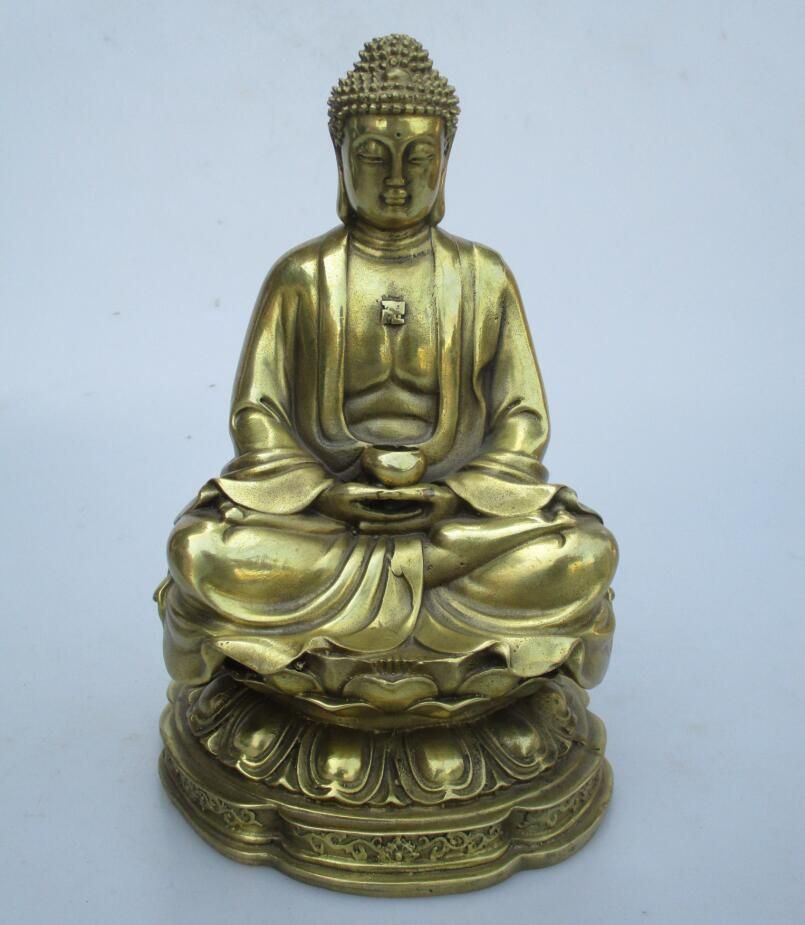 High: Art Collection Home Decorated Brass Carved Sakyamuni Buddha Statue/Home  Feng Shui Buddha Sculpture