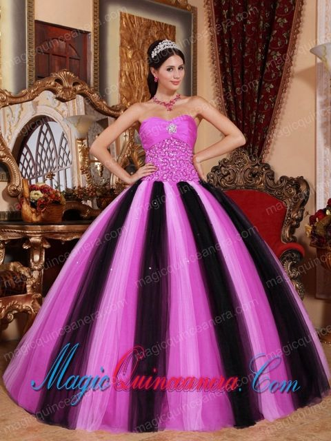 7dec232246 Multi-colored Ball Gown Sweetheart Floor-length Tulle Beading Quinceanera  Dress - Magic Quinceanera