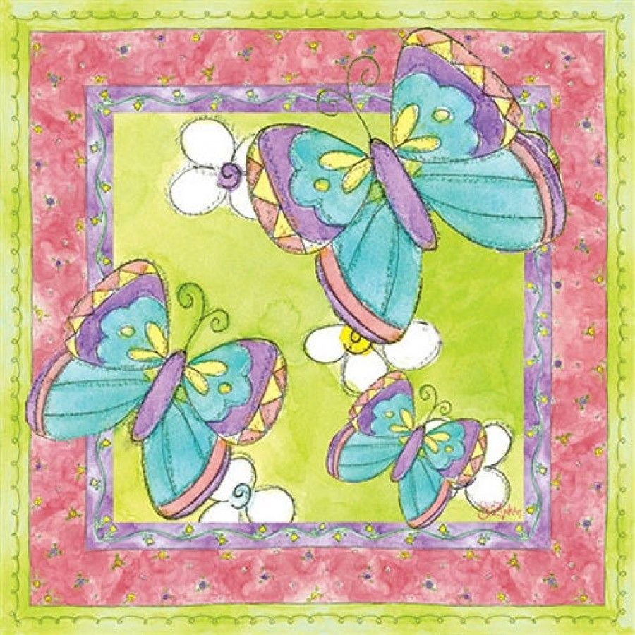 Art 4 Kids Suzie\'s Butterflies Wall Art - 21314 | Butterfly wall and ...