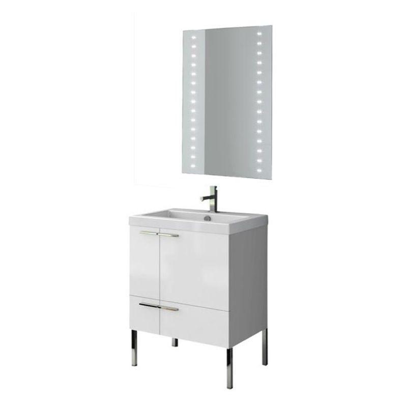 """Nameeks ANS224 ACF 23-6/15"""" Floor Standing Vanity Set with Wood Cabinet Ceramic Glossy White Fixture Vanity Single"""