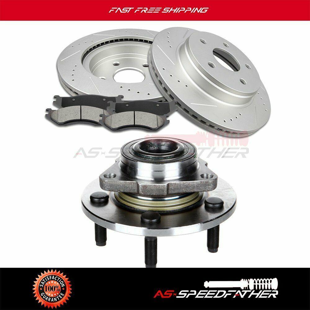 Advertisement Ebay Front Brake Discs Rotors Ceramic Pads Bearing For 02 03 05 Dodge Ram 1500 Dodge Ram 1500 Front Brakes Dodge Ram