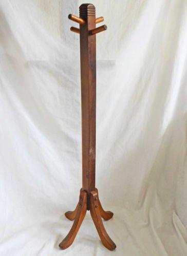 Antique Vintage Child Doll Hall Tree Coat Rack Hanger Wood Hat Stand Old Patina Tree Coat Rack Home Decor Vintage Children