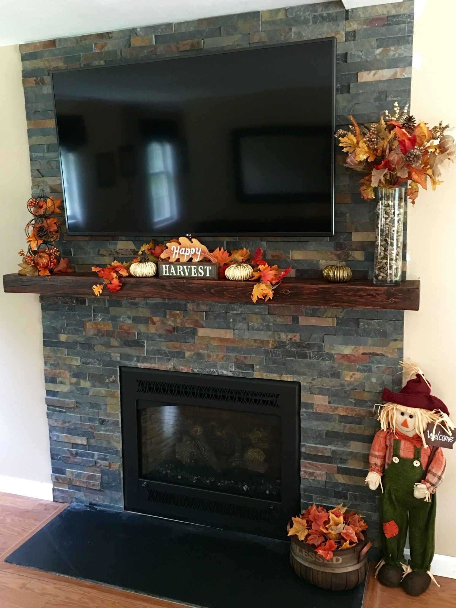 Fireplace remodel by michaela a of dudley ma we made