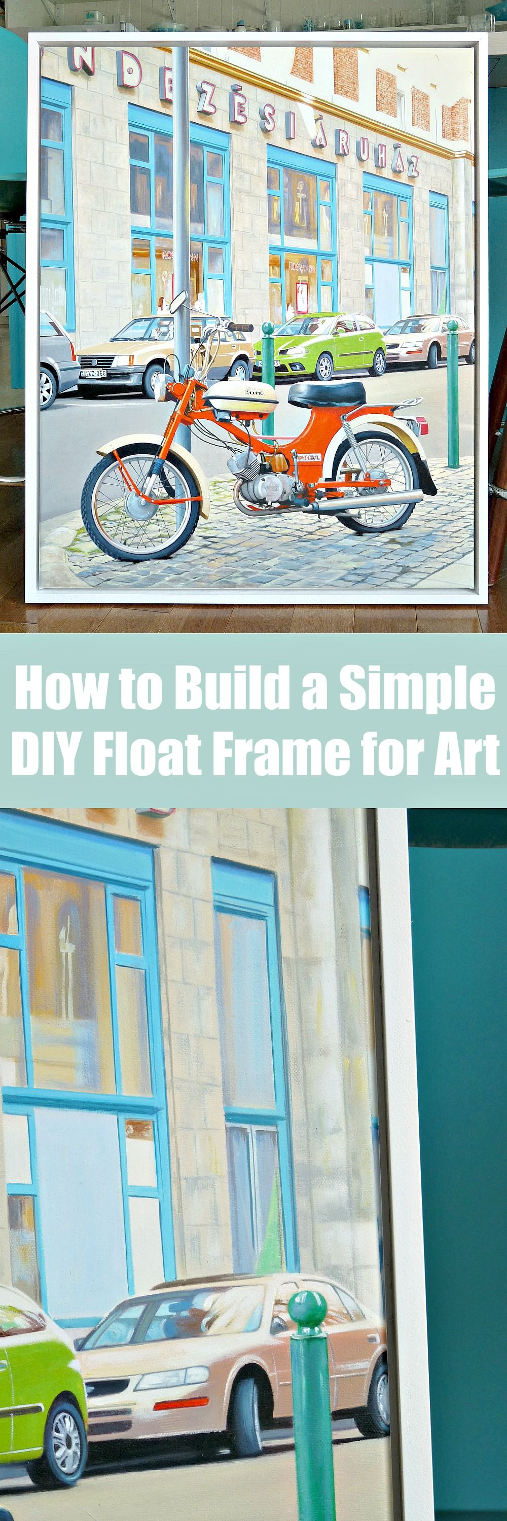 How to make a diy float frame turn your photo into an oil how to make a simple and affordable float frame for art also how to jeuxipadfo Image collections