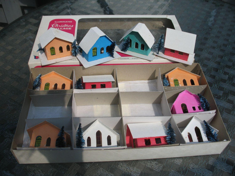 Maison Village Noel Vintage 10 petite maison de village de noel en carton fenetre