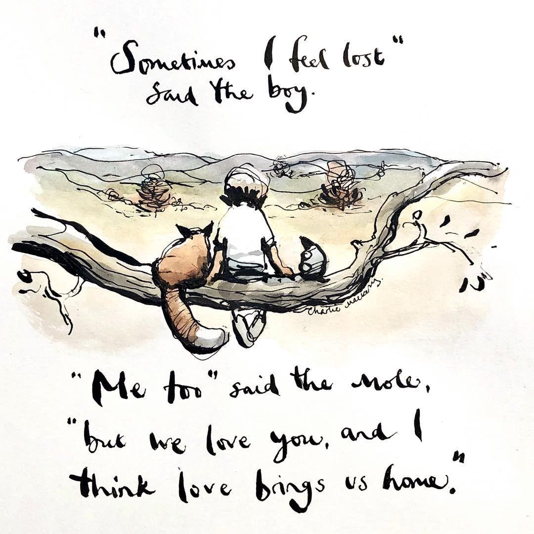 Risultati immagini per Sometimes I feel lost said the boy Mee too said the mole
