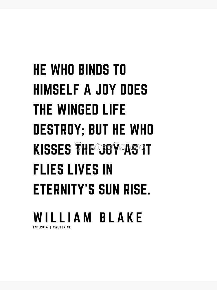 33 | William Blake Quotes | 210120 | Artist Poet Poem Poetry Writing Writher Literature Literary Sticker by QuotesGalore