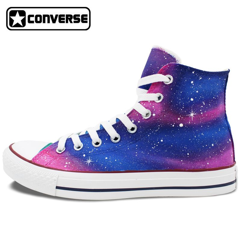 93268fd116c4 Purple Pink Original Design Galaxy Converse All Star Man Woman Shoes Hand  Painted High Top Mens Womens Sneakers Birthday Gifts  Affiliate