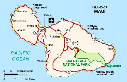 Wailea Hawaii Map.Maui Map Maui Hawaii Lanai Ka Anapali Kapalua Wailea Kihei Hana Road