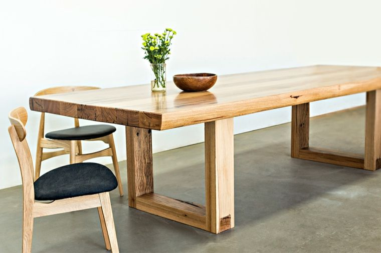 Muebles de madera natural para comedor proyectos para la for Mesas de comedor de madera