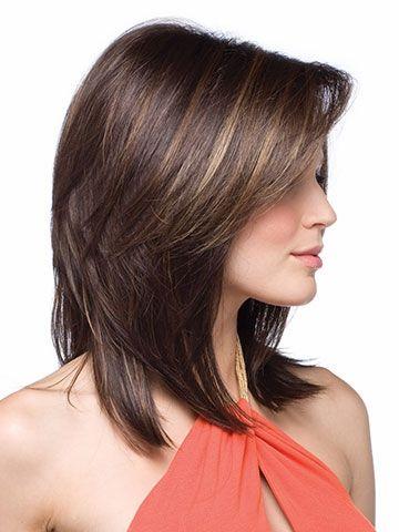 be8b8d8ba719 Synthetic-hair wig for black women medium-length-haircuts straight ...