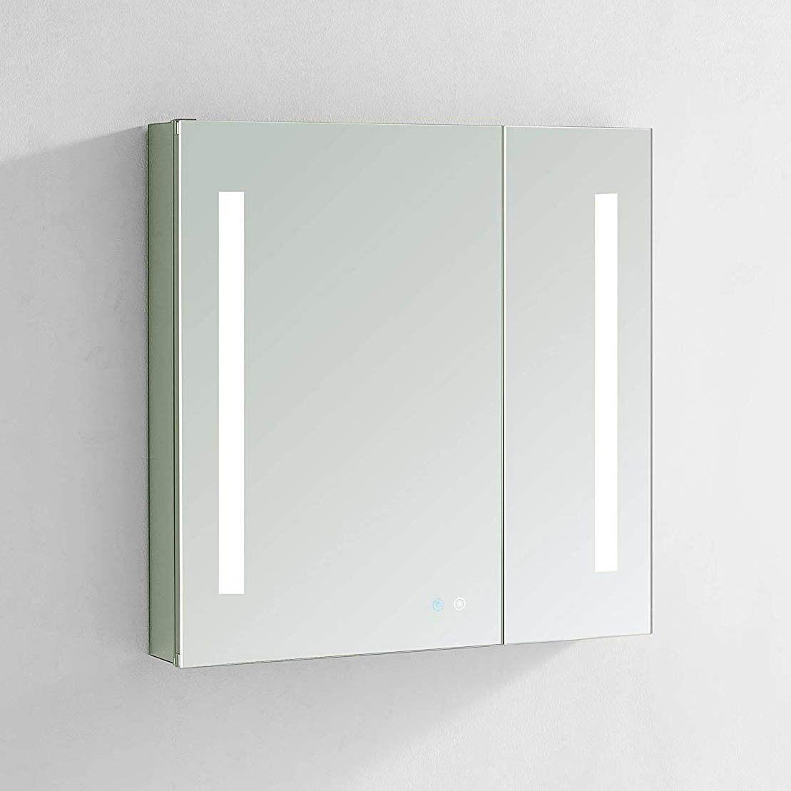 Aquadom Signature Royale 36 X 30 Inch Medicine Cabinet With Light In 2021 Medicine Cabinet With Lights Bathroom Mirror Cabinet Bathroom Style