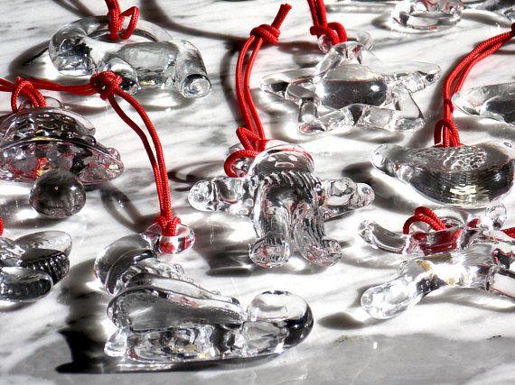 Vintage 10 Glass Christmas Ornaments Set Kosta Boda Sweden Kosta Boda, Christmas  Ornament Sets, - Vintage 10 Glass Christmas Ornaments Set Kosta Boda Sweden Mid