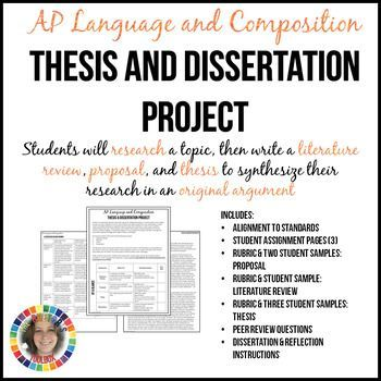 Ap English Lang Comp Thesis And Dissertation Research Synthesis