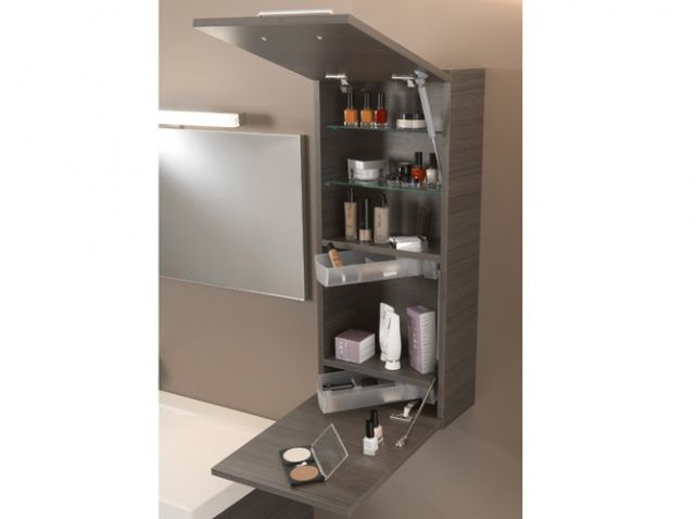 Meuble pratique pour petite salle de bains id e maison for Petite salle de bain pratique