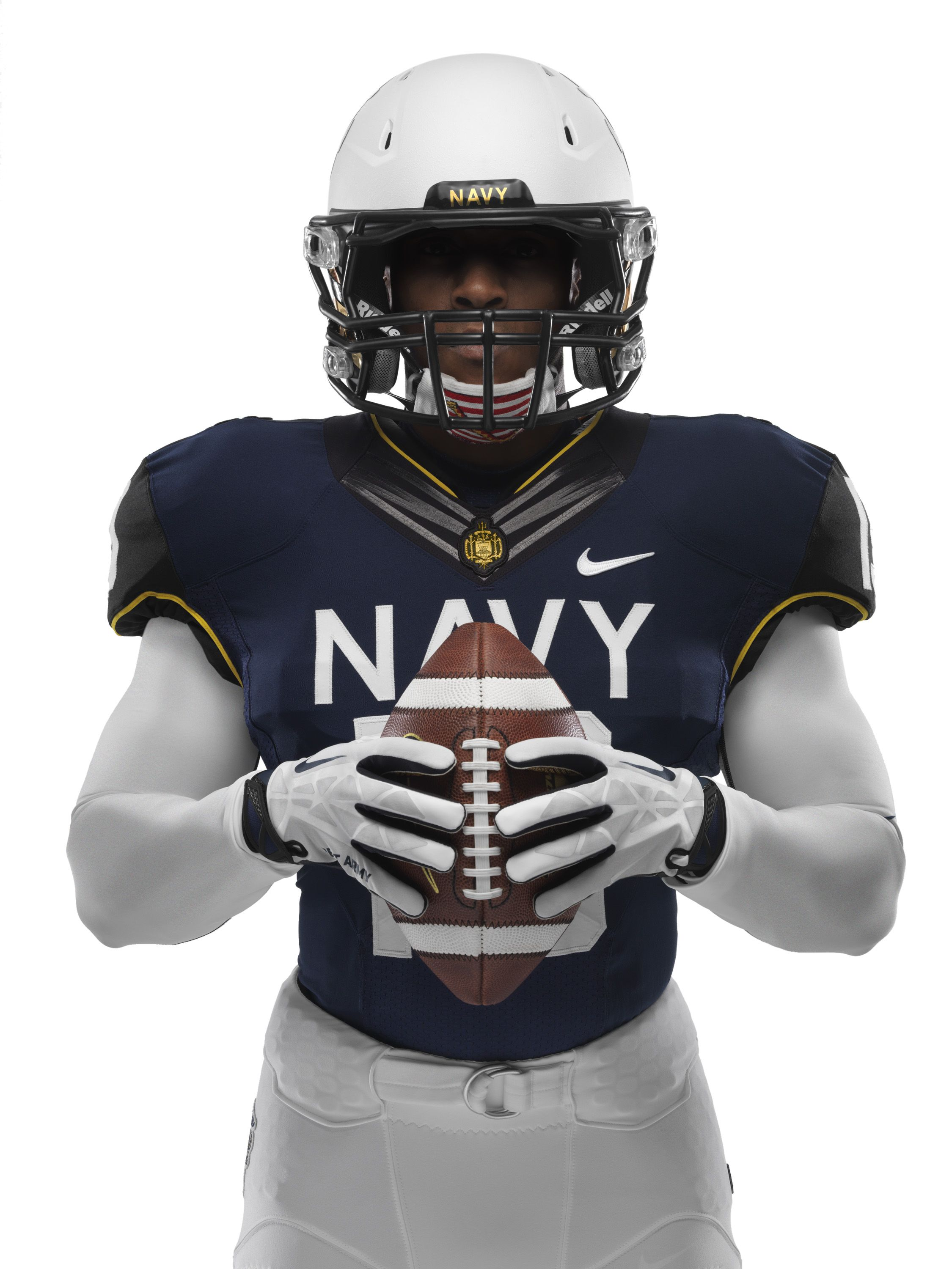 The front of Navy's uniform for the ArmyNavy Game