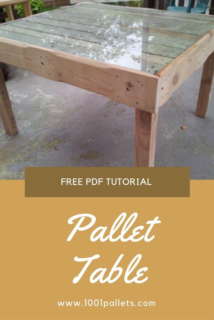 diy pdf tutorial pallet table 1001 pallets free download