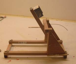 A small mangonel project webelos idead pinterest for Catapult design plans for physics