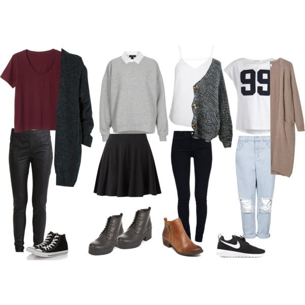 Back To School Relaxed Outfit Ideas Oversized Sweaters u0026 Long Cardigan | Fashion finder ...