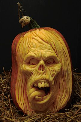 30 Realistic Pumpkin Faces For Helloween The Design Inspiration Awesome Pumpkin Carvings Amazing Pumpkin Carving Scary Halloween Pumpkins