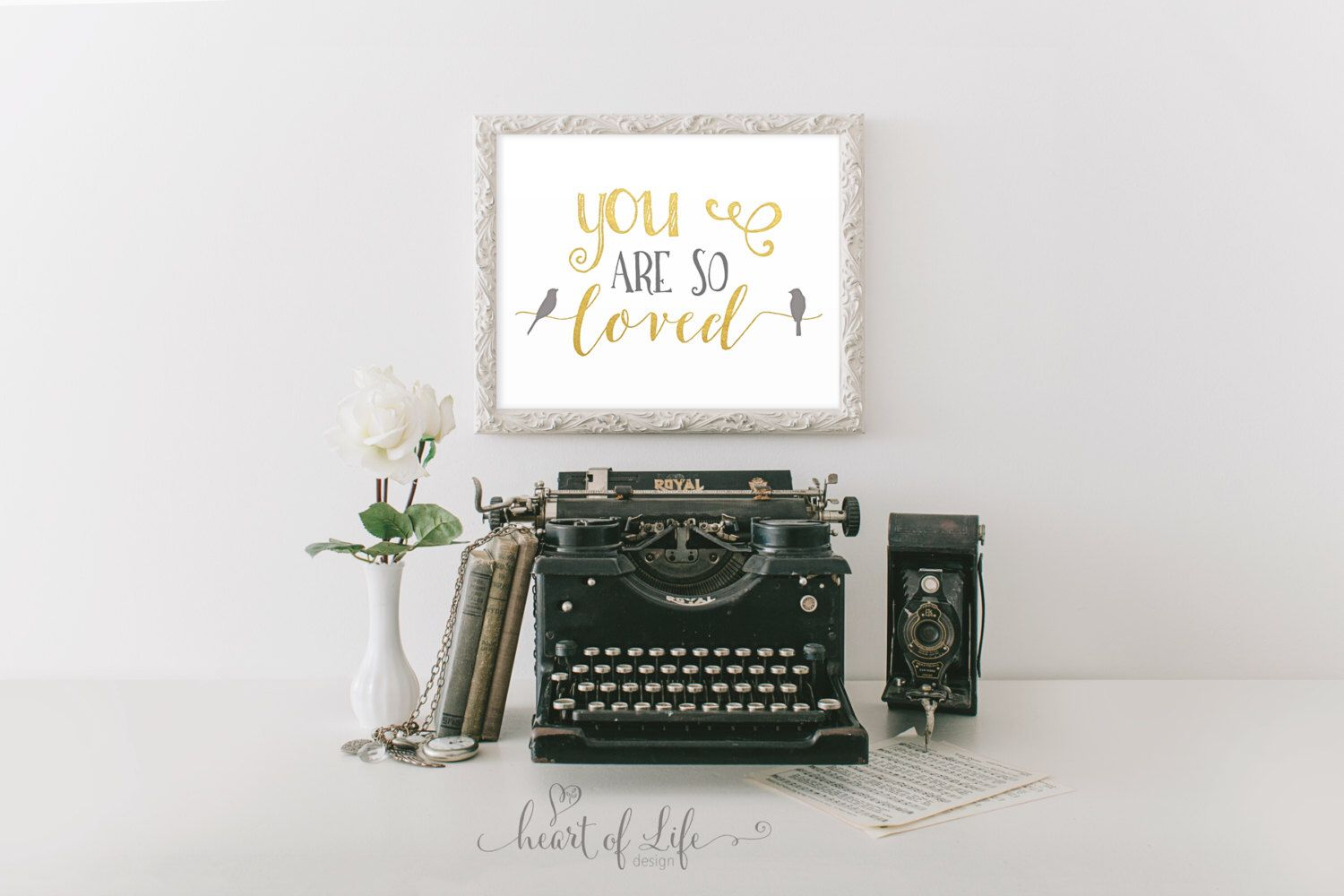 You are so loved printable Gold and gray nursery decor Gray and gold wall art Nursery quote Quote for nursery Bird wall art Bird nursery art by HeartOfLifeDesign on Etsy https://www.etsy.com/listing/294954775/you-are-so-loved-printable-gold-and-gray