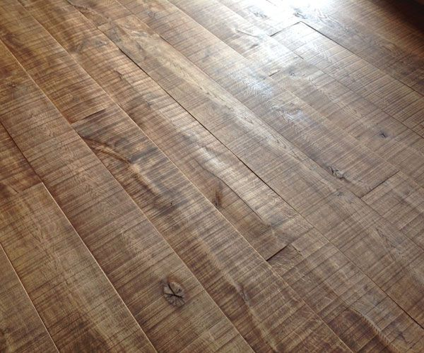 Rough Sawn Wood Floorboards A Rustic Band Saw Cut