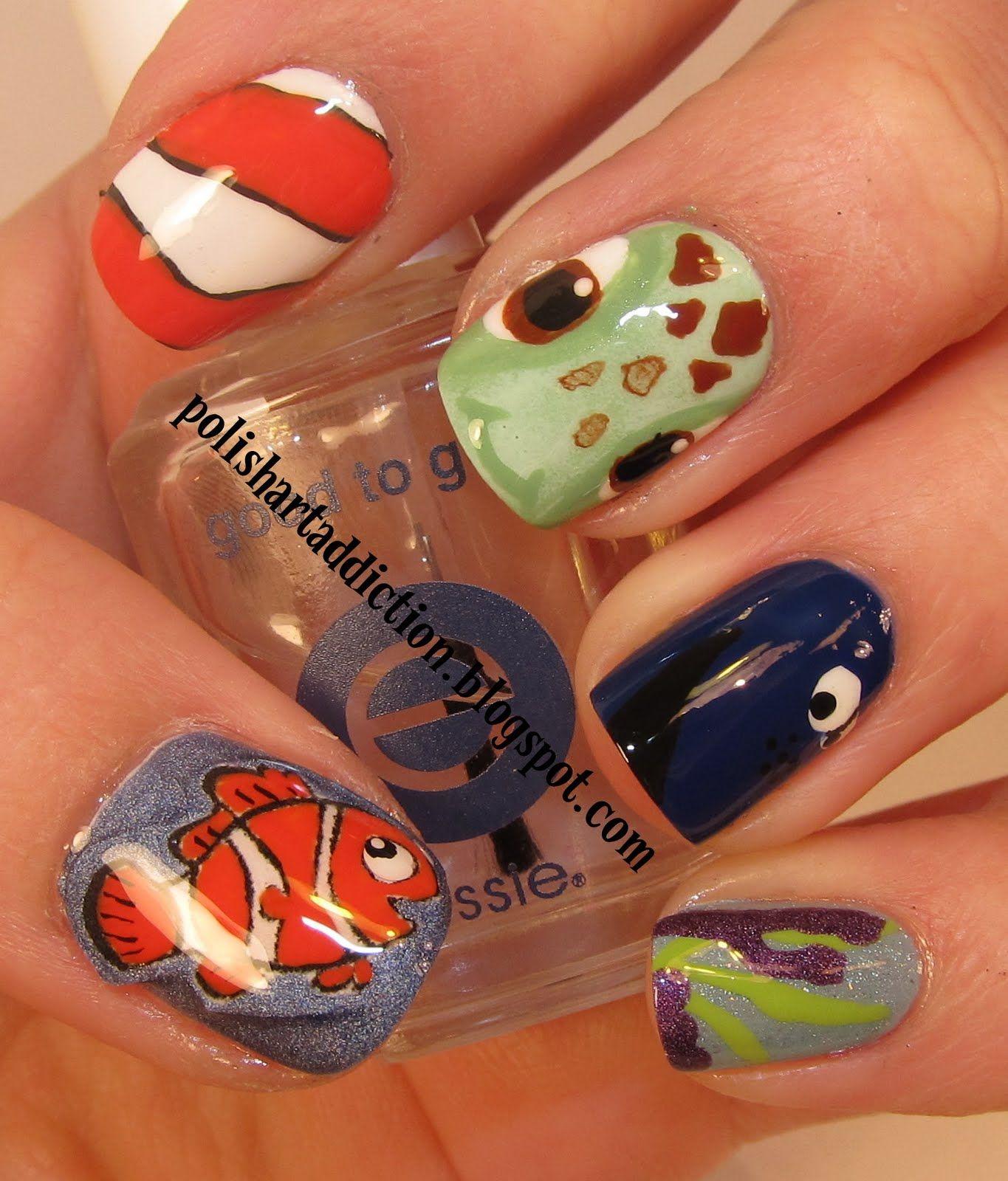 Nails / Nail Art / Finding Nemo | Nailsss | Pinterest | Gelnägel ...