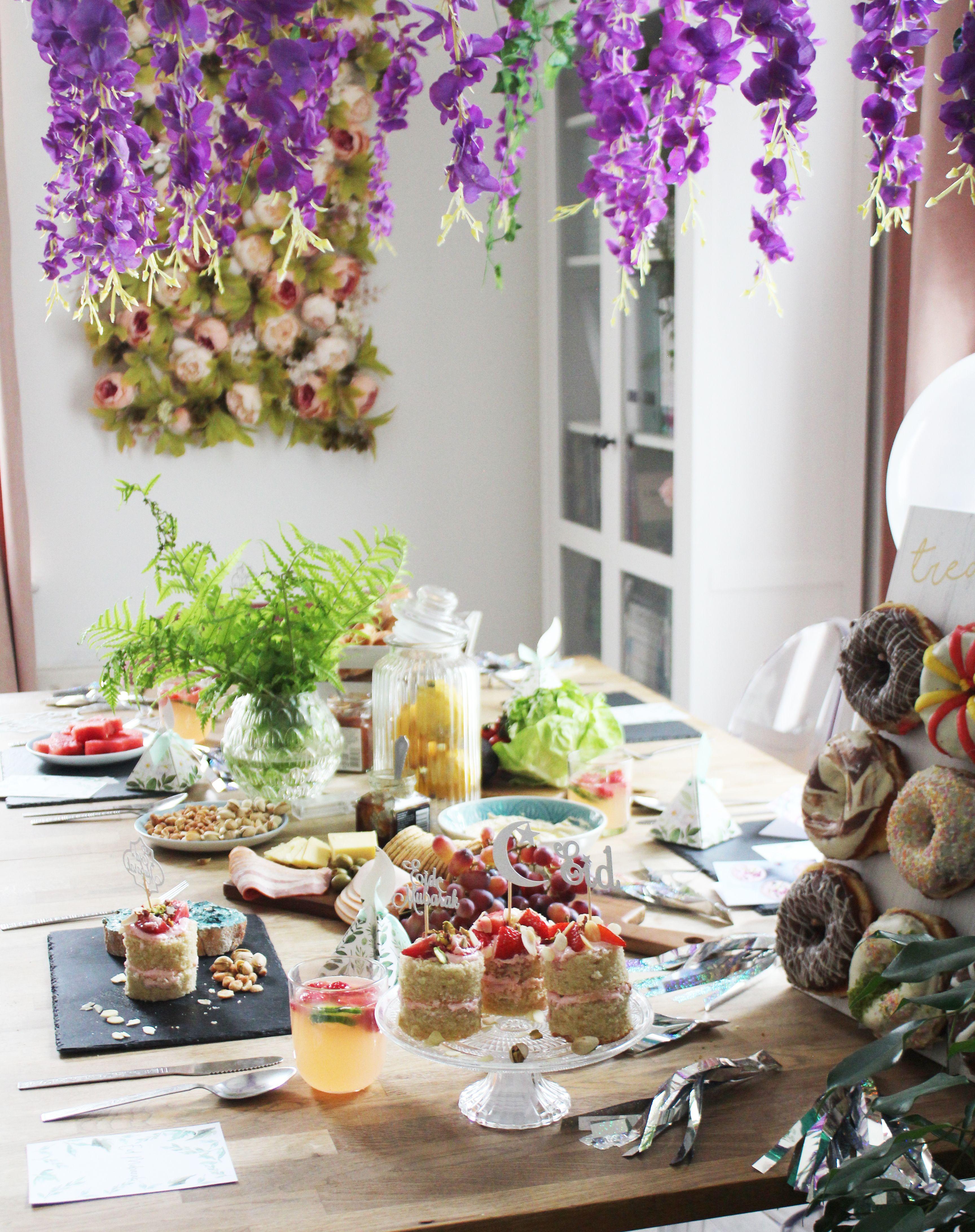 Indoor Garden Theme  Eid Decorations #Indoorgarden, #Wisteria, #Wisteragarland, #