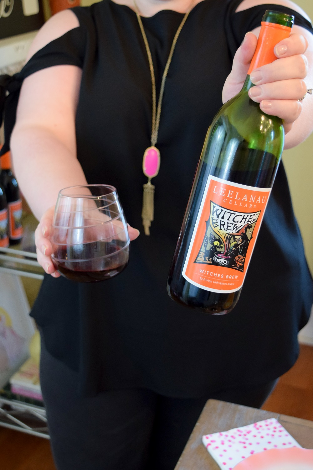Kicking Off The Halloween Season With Witches Brew Wine From Leelanau Cellars In Omena Michigan Near Traverse City Featuring P Witches Brew Food Wine Recipes