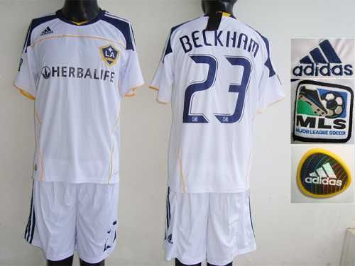 Los Angeles Galaxy 23 Beckham White Home Soccer Club Jersey Only 20 50usd La Galaxy Soccer Soccer Club Soccer Jersey
