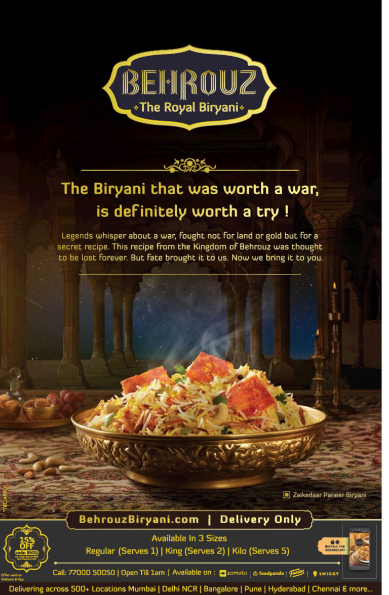 Times Of India eEdition Restaurant poster, Food