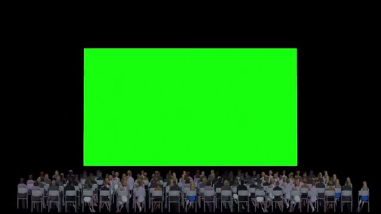 Green Screen Cinema Screen Audience Greenscreen Cinema Screen