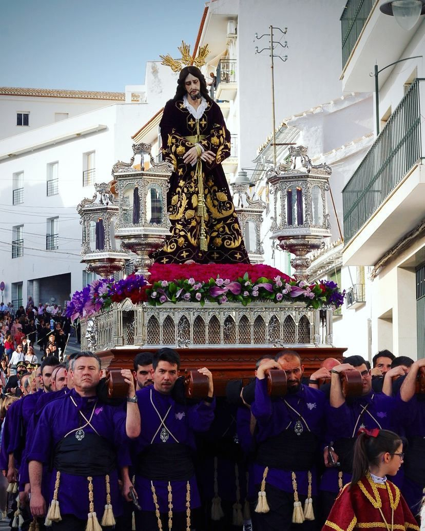 Holy Week Semana Santa In Spain Forty People Carried Jesus Through The Streets Of Loja Andalucia As Part Of This Proc Holy Week Instagram Posts Daily Pictures