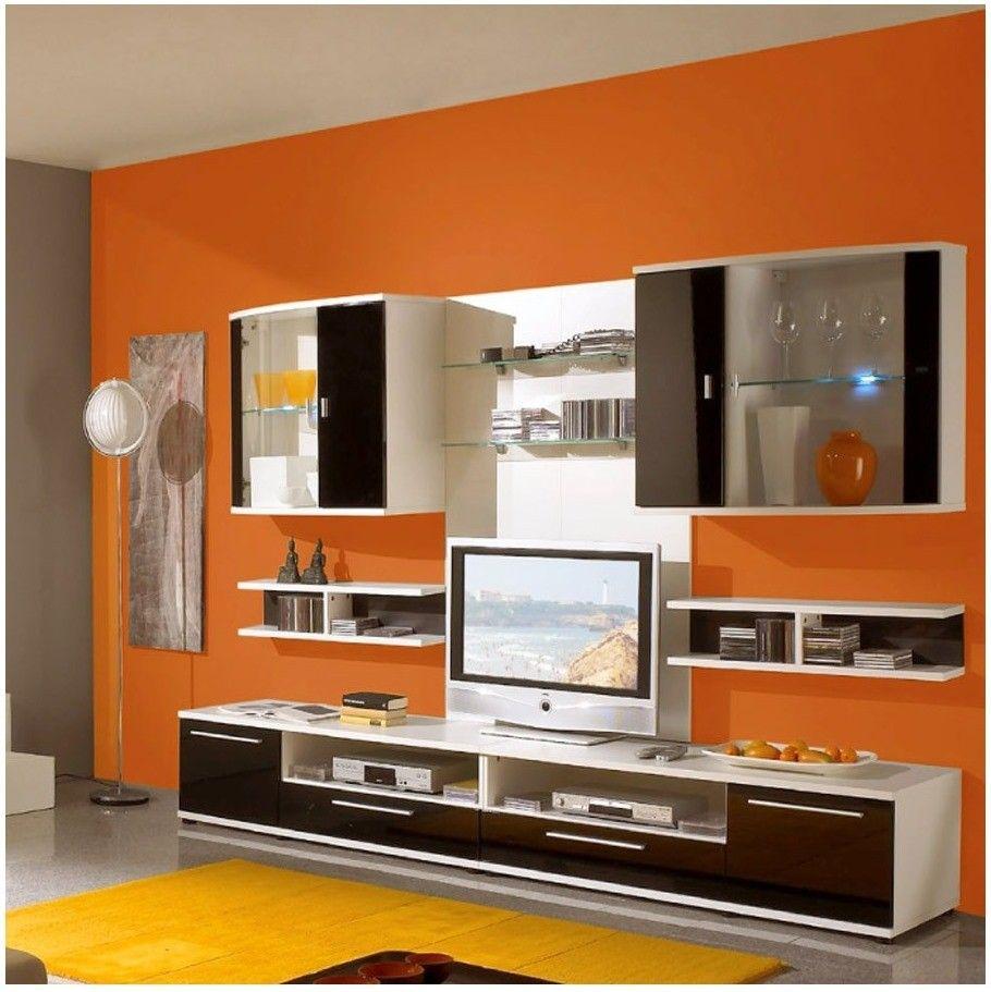 wohnzimmer schwarz weiß orange | Pinterest | Interiors