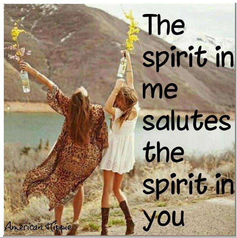 American Hippie Word Namaste Soul Speaks