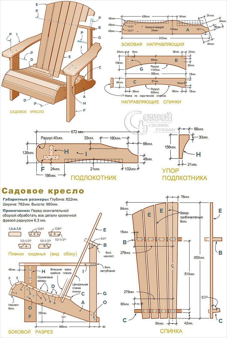 Схема сборки садовой мебели своими руками 495