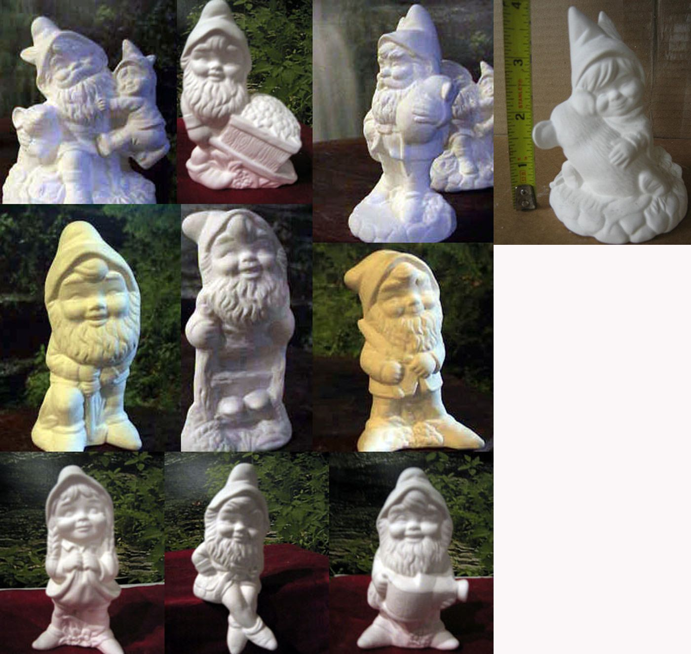 Ceramic Gnomes To Paint: Choice One, Alberta, Garden Gnome, Yard, Garden Statue
