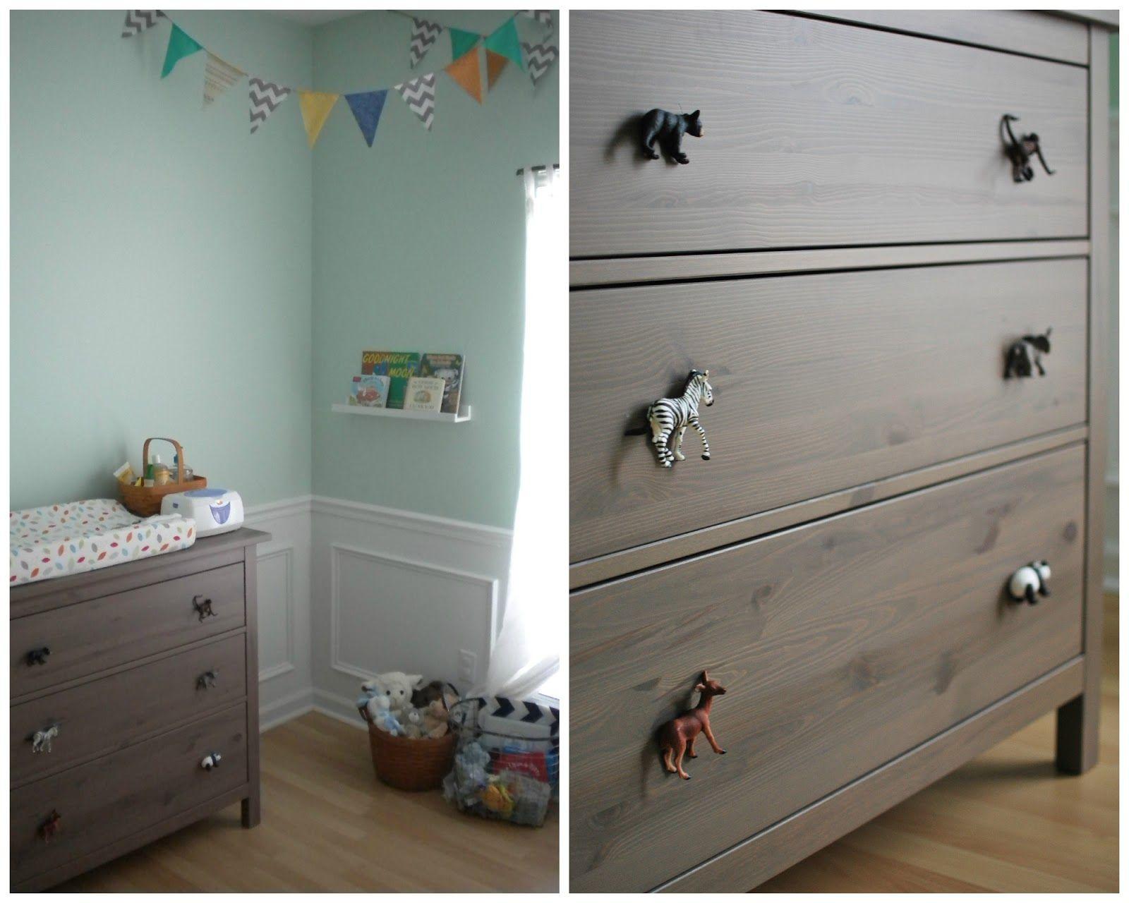 Mint Green Baby Nursery Fun Animal Drawer Knobs Pulls