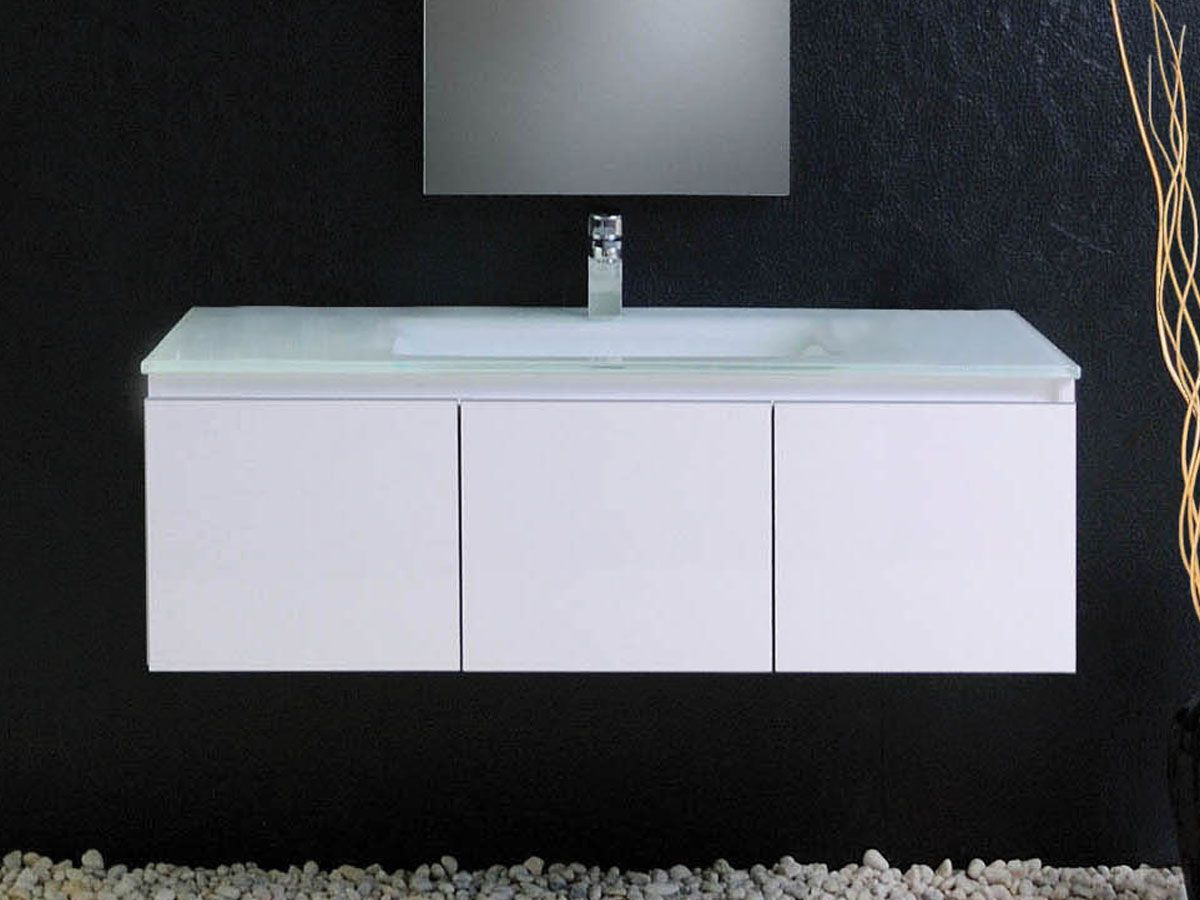 Architectural Designer Products Silex 1200 Wall Hung Vanity Unit Finished In Stunning Glass