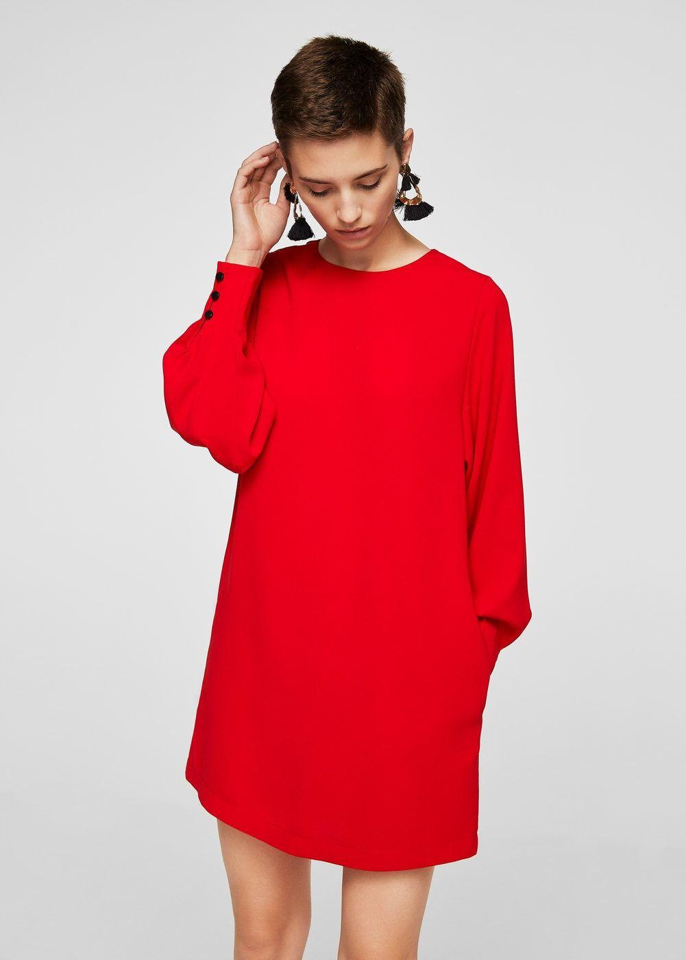 Платье с рукавами-фонариками - Платья - Женская  a8f17ddd5888a