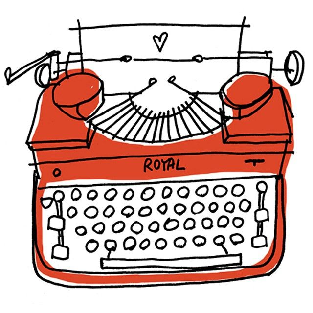Royal Typewriter. #illustration #draw #typewriter #vintage