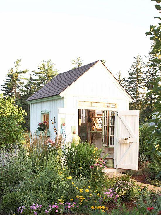 Neu Weißes Gartenhäuschen | Home, sweet home. | Pinterest  WG75