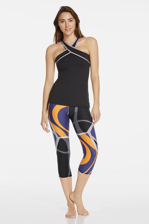 Beyond Yoga Just Your Stripe Capri Legging   High waisted
