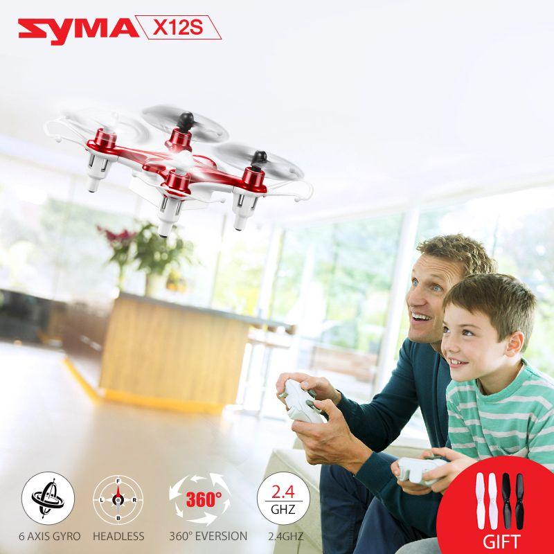 Vendita calda syma x12s mini drone senza fotocamera originale 2.4g 4ch rc quadcopter con led lampeggiante luce di notte toys per bambini
