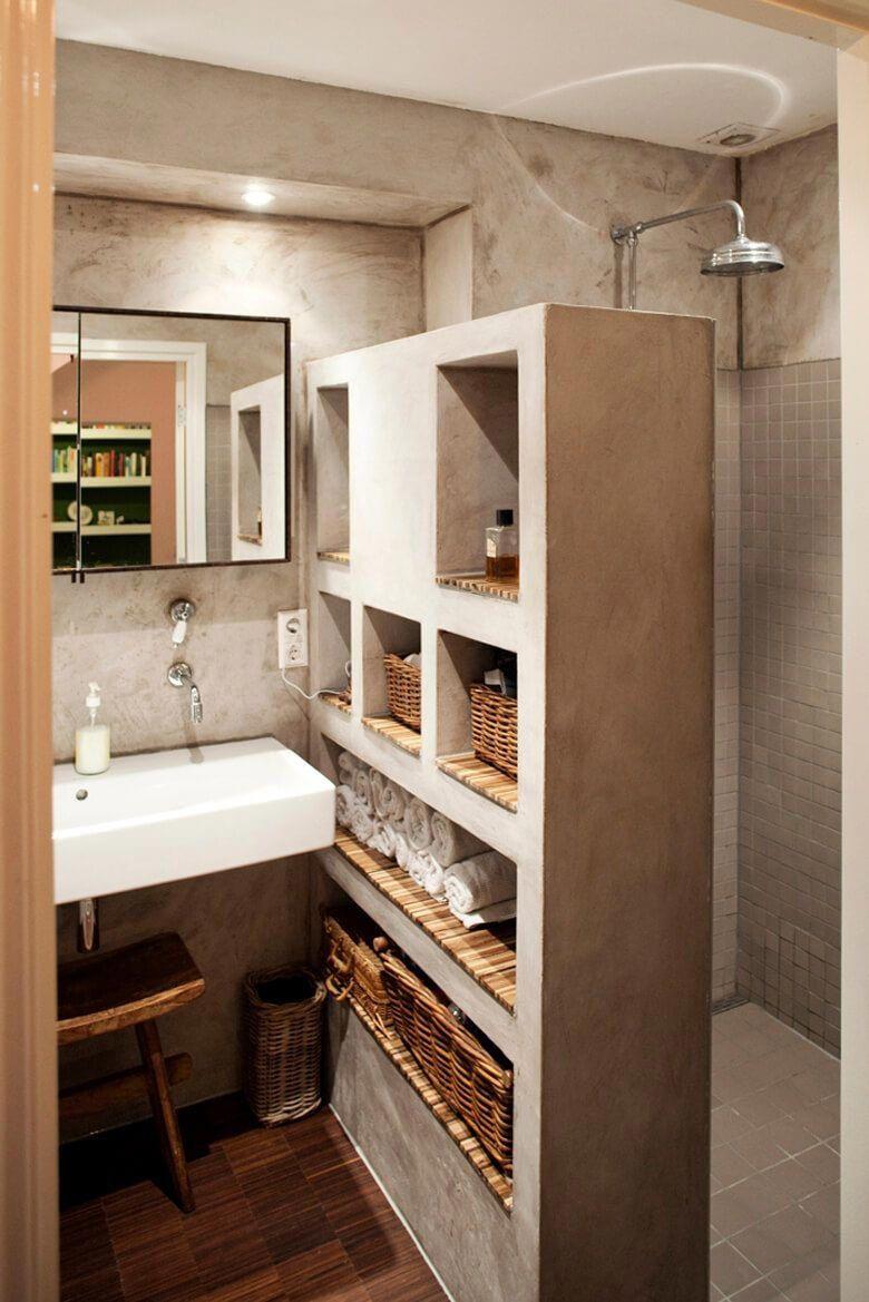 50 idee bagni in muratura stile moderno classico e for Casa moderna bagni